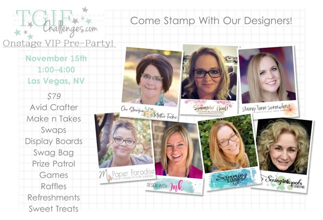 TGIF Onstage VIP Pre-Party! | Swimming In Stamps